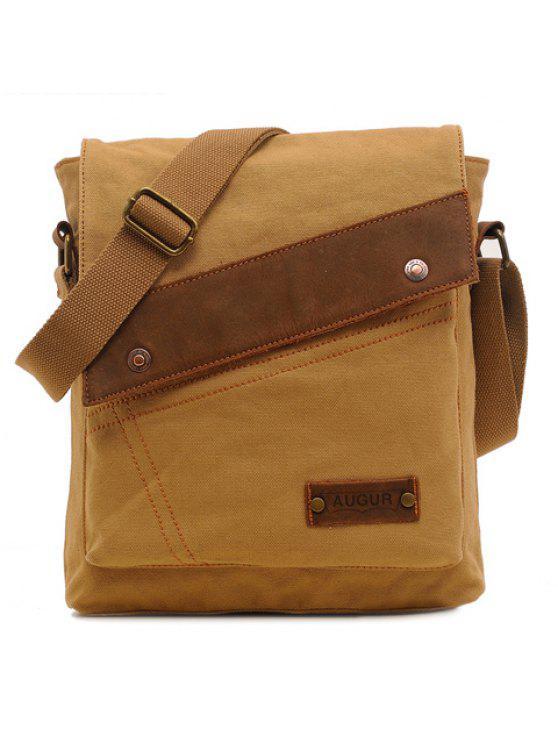 حقيبة الرسالة عصري برشام للرجال - كاكي