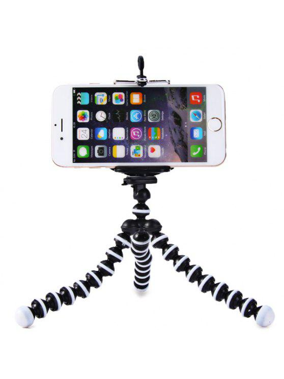 chic Flexible Mini Octopus Style Tripod Stand Holder for Mobile Phones - WHITE AND BLACK