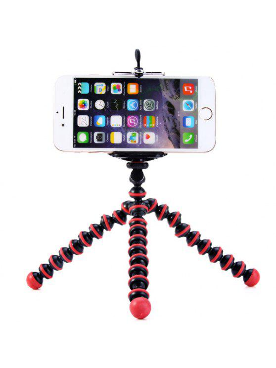 fancy Flexible Mini Octopus Style Tripod Stand Holder for Mobile Phones - RED WITH BLACK