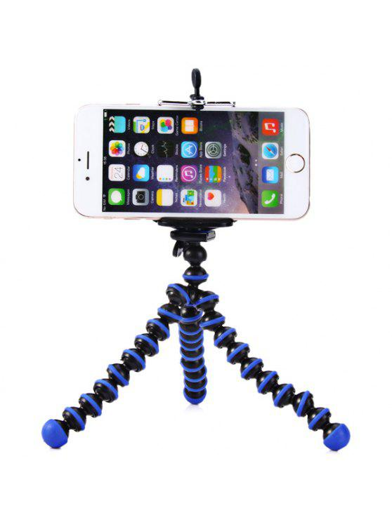 unique Flexible Mini Octopus Style Tripod Stand Holder for Mobile Phones - BLUE AND BLACK