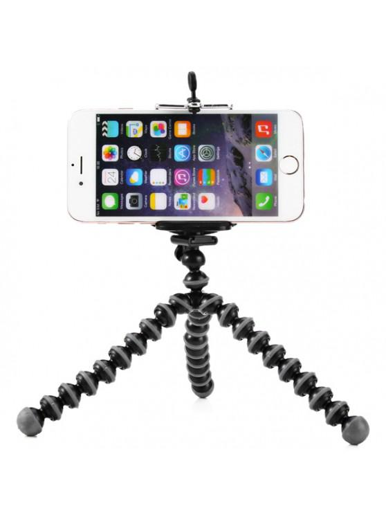 fashion Flexible Mini Octopus Style Tripod Stand Holder for Mobile Phones - BLACK AND GREY