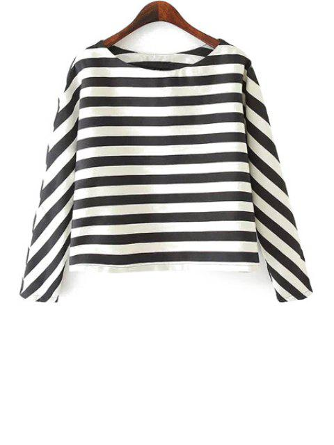 outfit Stripe Long Sleeve T-Shirt - WHITE AND BLACK M Mobile