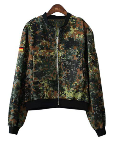 shop Camouflage Pockets Coat - CAMOUFLAGE COLOR L Mobile