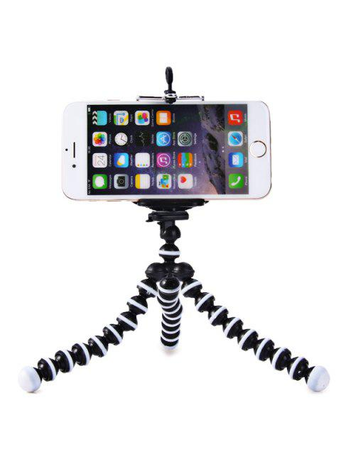 chic Flexible Mini Octopus Style Tripod Stand Holder for Mobile Phones - WHITE AND BLACK  Mobile