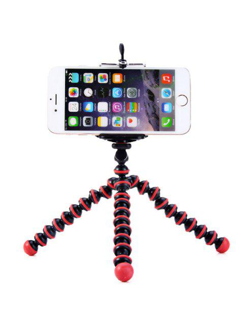 fancy Flexible Mini Octopus Style Tripod Stand Holder for Mobile Phones - RED WITH BLACK  Mobile