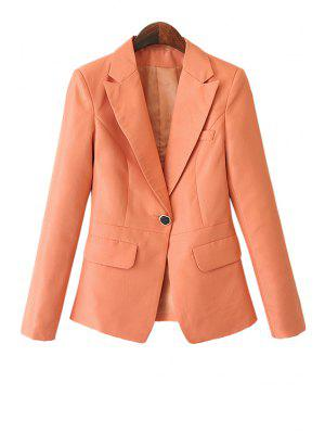 Solid Color Pockets Blazer