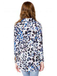 393b43ade5538 28% OFF  2019 Shirt Collar Leopard Print Shirt In LEOPARD