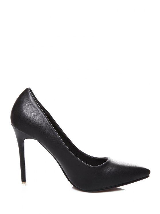best Stiletto Heel Pointed Toe Pumps - BLACK 35
