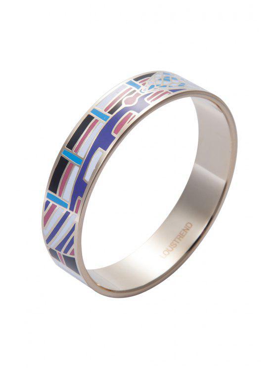 fashion Round Shape Printed Bracelet - COLORMIX