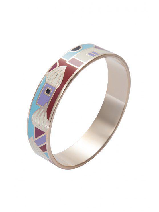 Pattern Decorated Round Bracelet - Multicolore