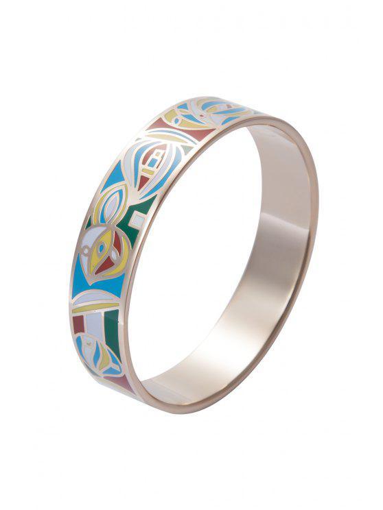 sale Round Shape Pattern Decorated Bracelet - COLORMIX