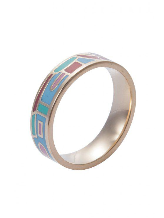 shop Round Printed Ring - GOLDEN 16