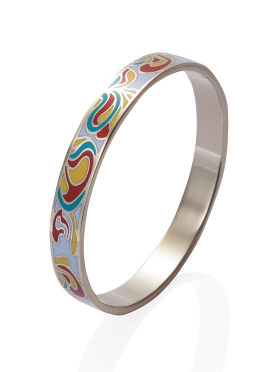 buy Circle Shape Pattern Decorated Chic Bracelet - COLORMIX