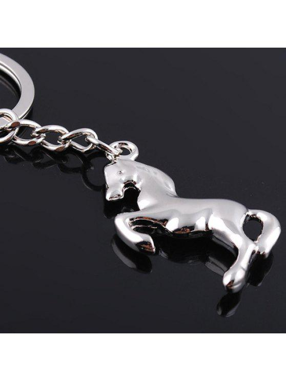 hot Delicate Horse Shape Key Ring - SILVER