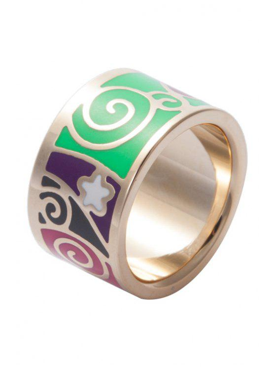 fancy Wide Round Printed Ring - COLORMIX 16