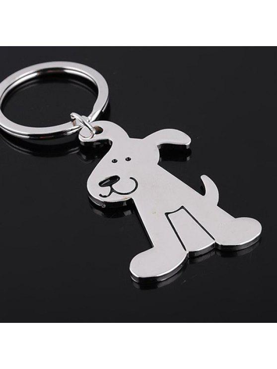outfits Cute Dog Shape Key Ring - SILVER