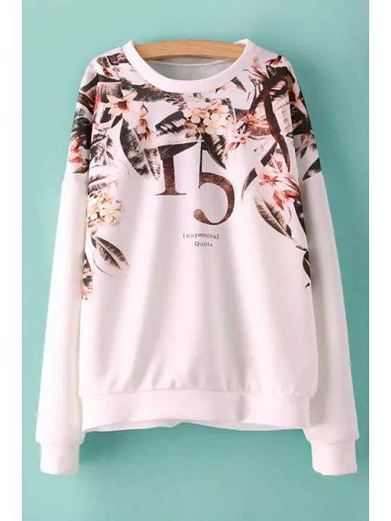 outfits Figure Floral Print Sweatshirt - COLORMIX S