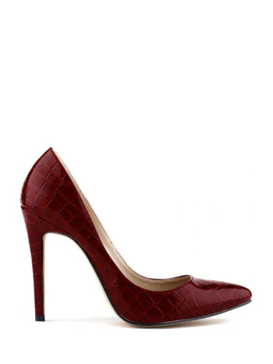 online Crocodile Print Stiletto Heel Pumps - RED 41