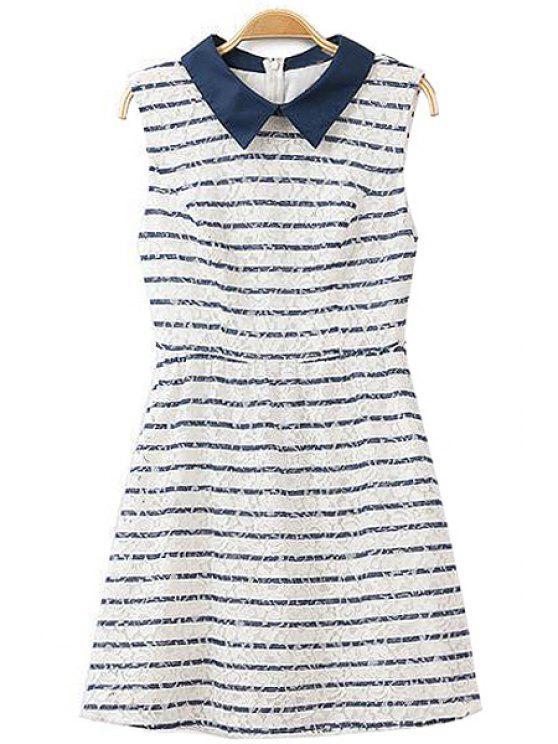 latest Striped Sleeveless Dress - STRIPE S