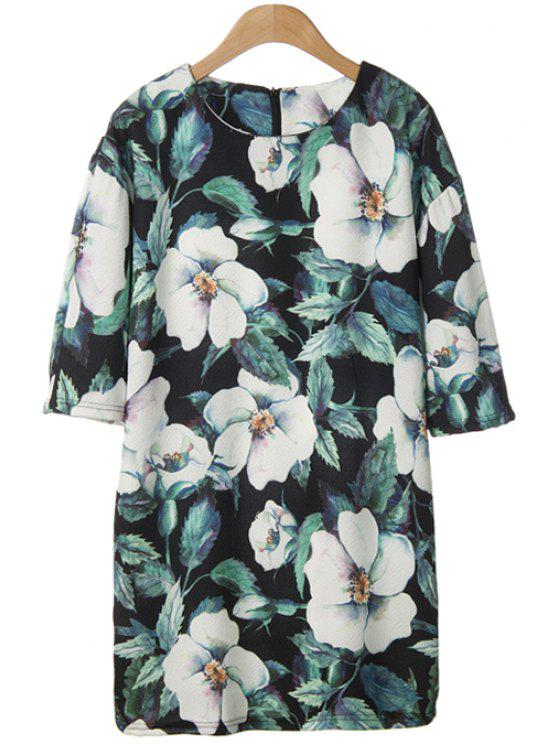 womens White Floral Print Short Sleeve T-Shirt - COLORMIX ONE SIZE(FIT SIZE XS TO M)