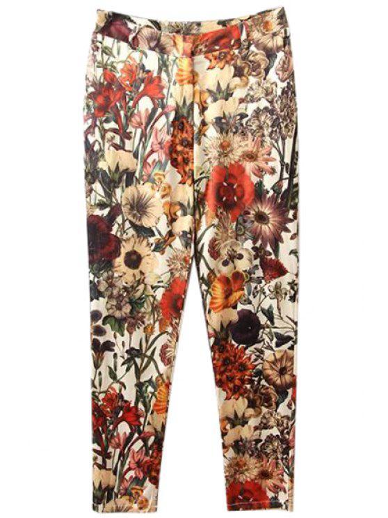 buy Floral Print Pants - COLORMIX S