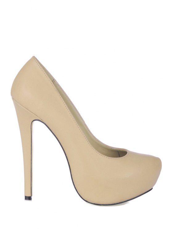 fancy Stiletto Heel Solid Color Pumps - YELLOWISH PINK 35