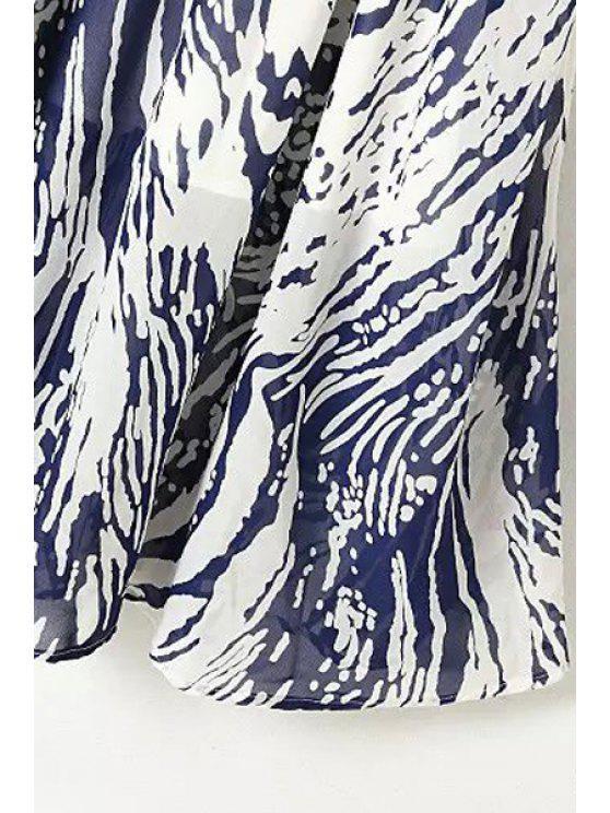 De Imprimer Violet Mousseline 4 Robe Manches 3 SoieBleu En L shQdtrC