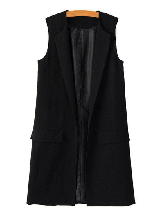 new Black Maxi Waistcoat - BLACK S