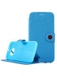 Caja Magnética De La Cubierta Del Cuero De La PU Del Diseño Del Complemento Con El Soporte Para Samsung Galaxy S6 G9200 - Azul