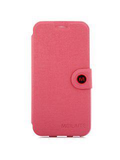 Caja Magnética De La Cubierta Del Cuero De La PU Del Diseño Del Complemento Con El Soporte Para Samsung Galaxy S6 G9200 - Rosado