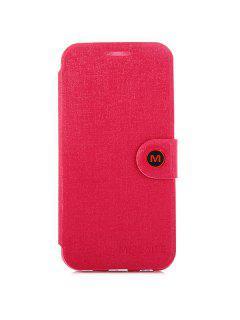 Caja Magnética De La Cubierta Del Cuero De La PU Del Diseño Del Complemento Con El Soporte Para Samsung Galaxy S6 G9200 - Rojo