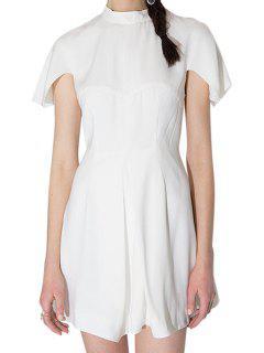 Corto Vestido Blanco De Manga - Blanco L