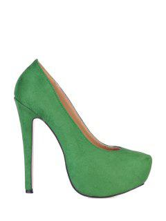 Sude Sexy High Heel Pumps - Green 38