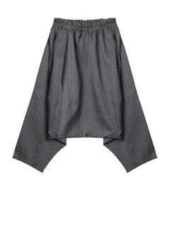 Stripe Elastic Waist Harem Pants - Gray