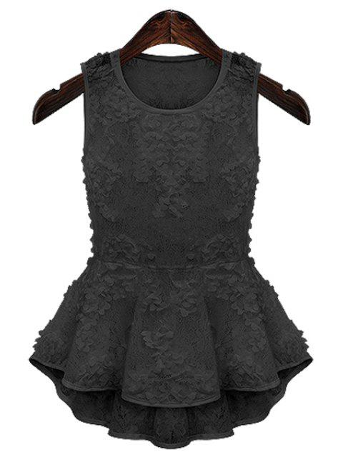 outfit Lace Flouncing Tank Top - BLACK M Mobile