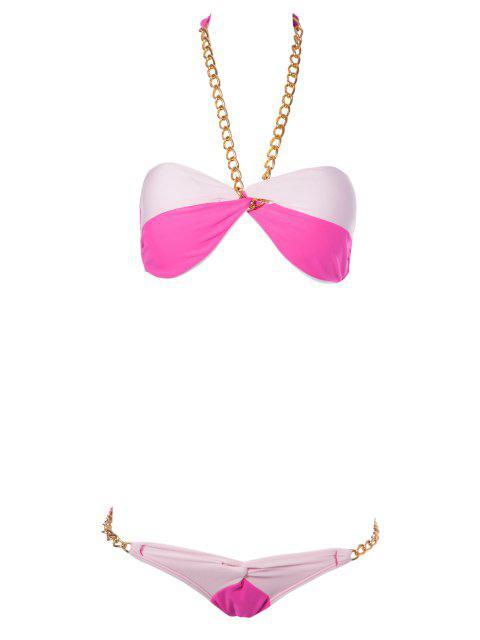 Color Block Chain Bikini - Plume S Mobile