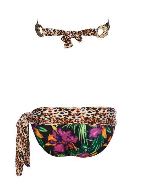 Leopard Print Self-Tie Bikini - Multicolore M Mobile
