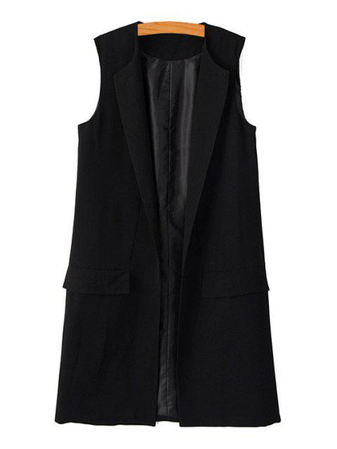 hot Black Maxi Waistcoat - BLACK M Mobile