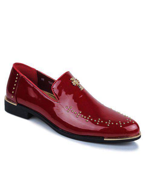 Chaussures habillées à la mode - Rouge vineux  43 Mobile
