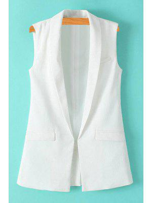 Solid Color Turn-Down Collar Waistcoat