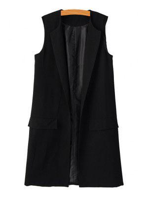 Black Maxi Waistcoat