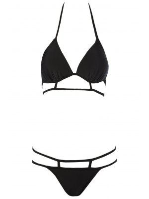 Negro Halterneck Bikini Set