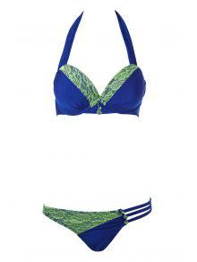 Halte Encaje Empalme Bikini Set - Azul Zafiro M