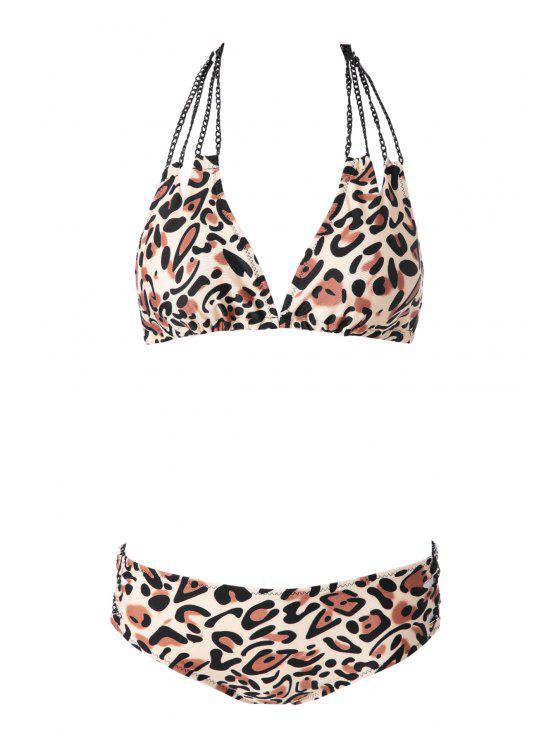 online Leopard Pattern Bikini Set - LEOPARD S