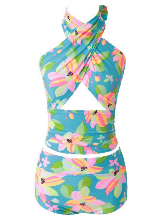 sale Flower Print Bikini Set - 13# M