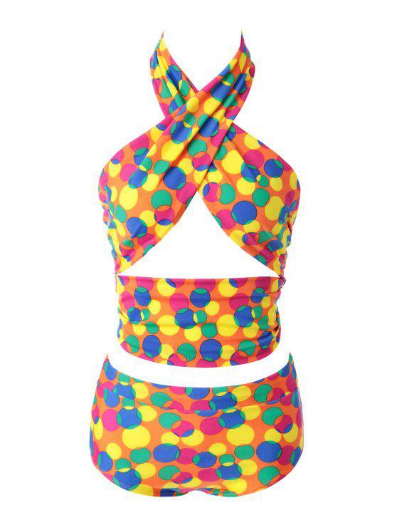 Polka Dot Bikini Set Colorful - 12# XL