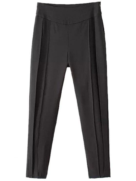 latest Solid Color High Waisted Harem Pants - BLACK S