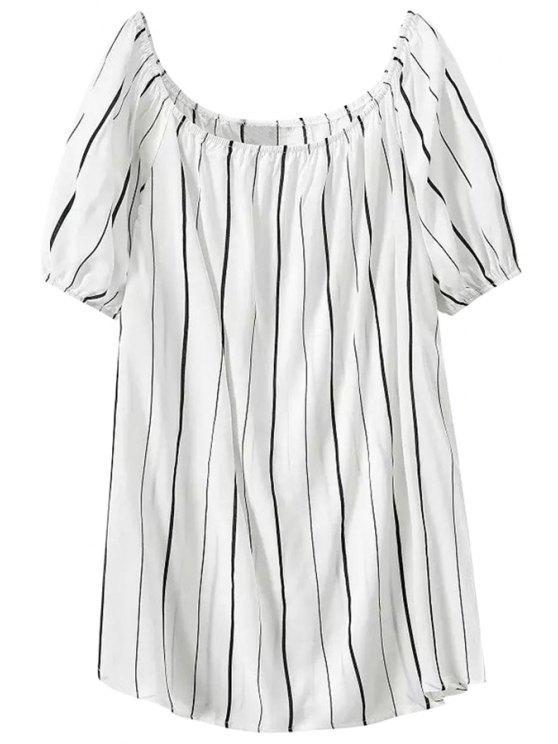 unique Stripes Short Sleeve Dress - STRIPE M
