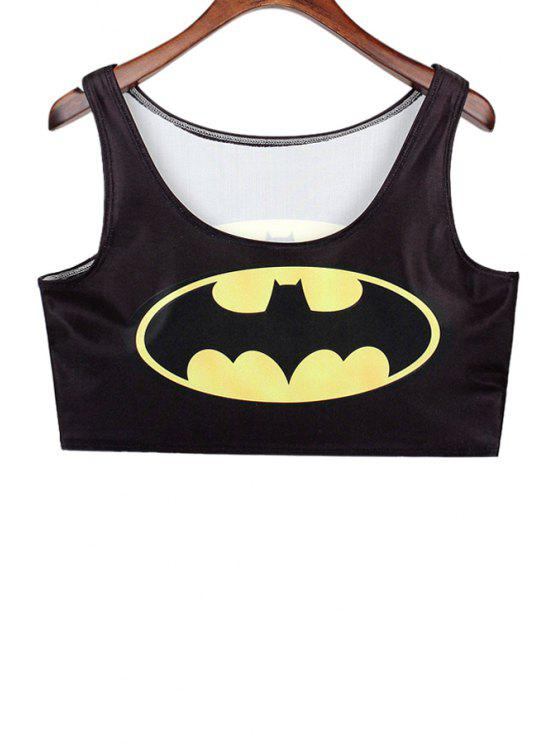 outfit Bat Print Sleeveless Tank Top - BLACK ONE SIZE(FIT SIZE XS TO M)
