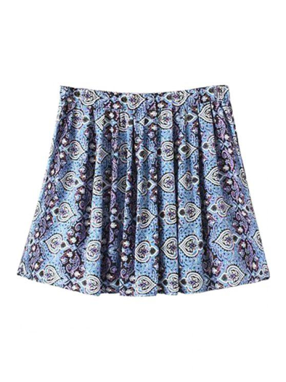 shops Retro Print A-Line Skirt - COLORMIX S